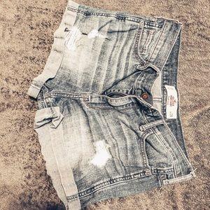 Medium washed jean shorts